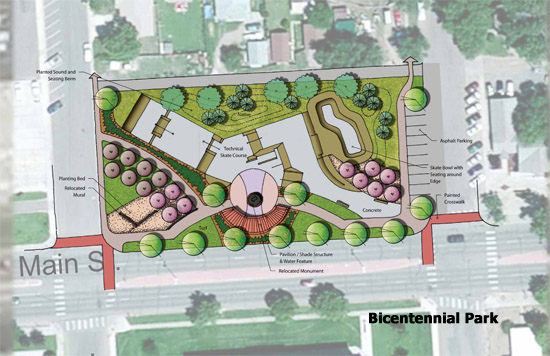 Bicentennial Park Proposal for Skateboarding and Community Activities