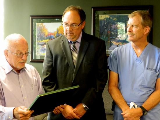 Harry Vogel ESGR, Craig Loveless and Dr. Jim Smith