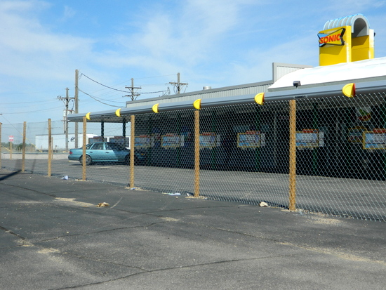 Portion of Fence south of Sonic Drive-In