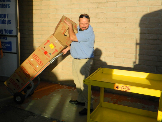 Karl Nieschburg Loads the Delivery Truck