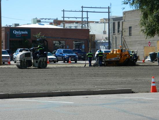 Paving Underway on Beech Street Parking Area