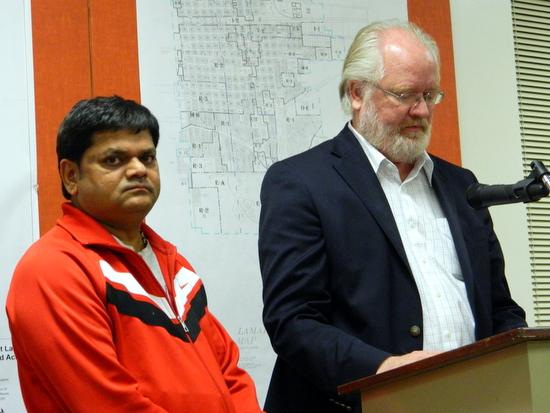 Peter Patel with Attorney, Mark Davis