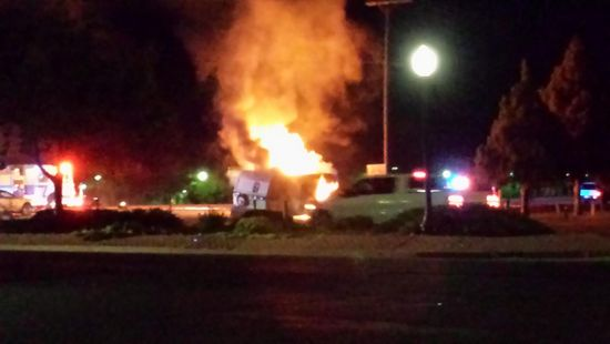 RV Fire Savage and Main in Lamar