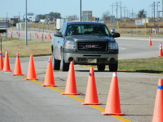 Navigation Barriers Direct Traffic to Officials