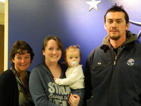 Left:  Sharon Hendricks  & Krista, Claira and Kia Currell