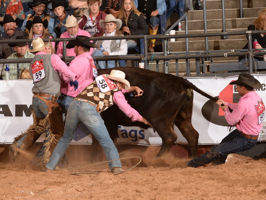 Dustin-Roping; Nick-Branding; Phy & Kyle Flanking Colt