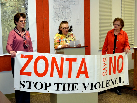 Zonta Members:  Karen Ketcham, Debbie Reynolds and Cody Laughlin