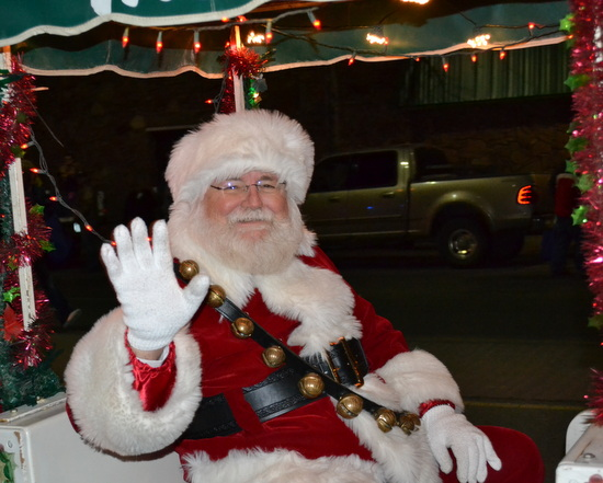 Santa Makes His Traditional Appearance