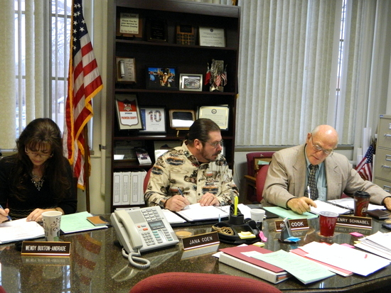 Commissioners Buxton-Andrade, Cook and Schnabel