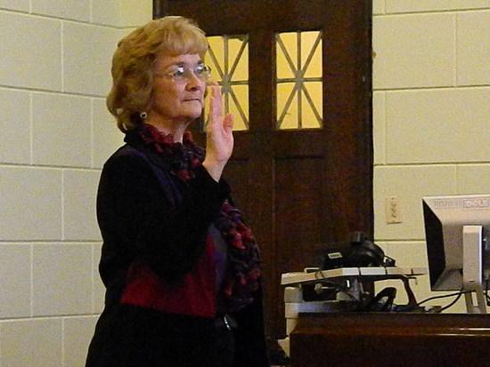 Lorraine Woolley Takes Her Oath as Treasurer