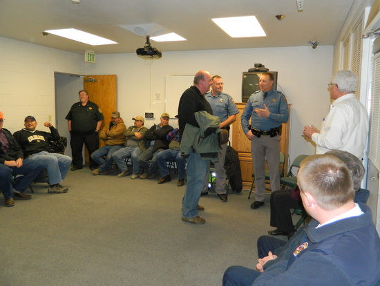 Faull Speaks with Chris Johnson, Former Otero County Sheriff at Center of Photo