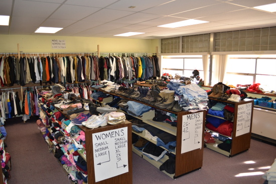 Clothing from Helping Hands at HOPE Center