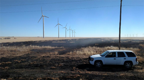 Acreage Scorched by Semi Fire