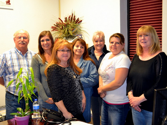 Pictured Left to Right: Vincent Gearhart, Holly Burton, Shannon Hicks, Sherry Walls, Val Baldwin, Debbie Crispin and Kathy Palmer. Photo by Russ Baldwin