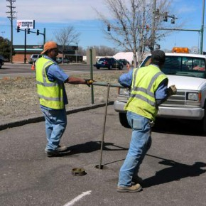 Public Works Crew Curtailing Water Flow