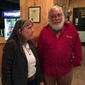 Linda Groat of Colorado Parks and Wildlife and John Koshak, recently retired from CPW.