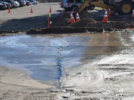 Water Leak from Second Break