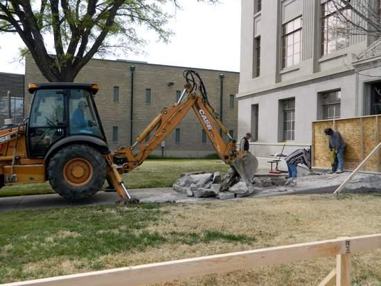 Removing Concrete Debris from Site