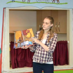 Katelyn Wilhoit Turns A Page for Story Hour