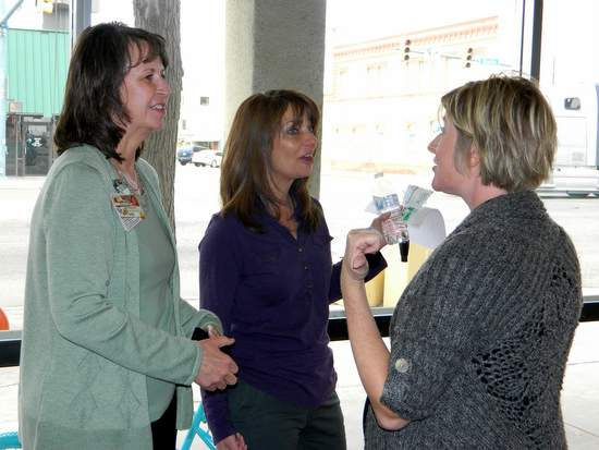 Karen Bryant from PMC, Lori Hammer from Project HOPE  and Emily Neischburg