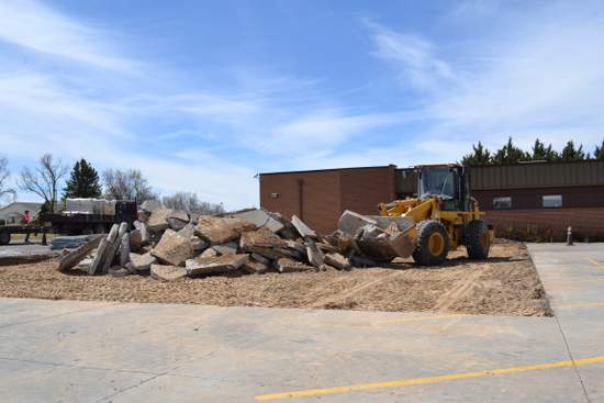 Work on New Parking Area