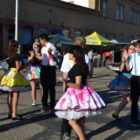 Denim and Lace Dancers on West Olive Street
