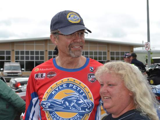 Kyle Petty with a Fan