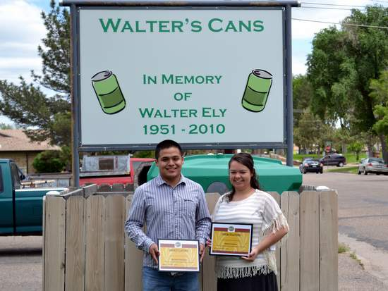 Walter Ely 2015 Scholarship Winners, Rey Lira and Amber Comer