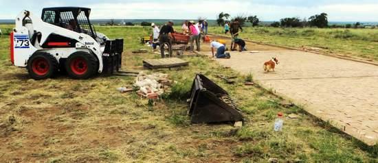 Barracks Construction Site at Camp Amache