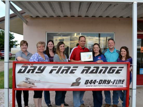 L to R: Valerie Baldwin, Shirley Smith, Dannon Meyers, Holly Burton, Owners Stephen and Amy Webster, Sean Lirley, Melissa Bohl