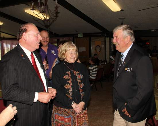 Grand Exalted Ruler, John Amen, and his wife Marcia with State Senator 35th District, Larry Crowder