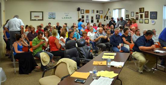 Council Chambers Filled for Public Hearing