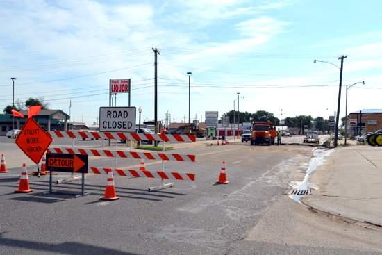 Water Main Repairs on East Olive Street