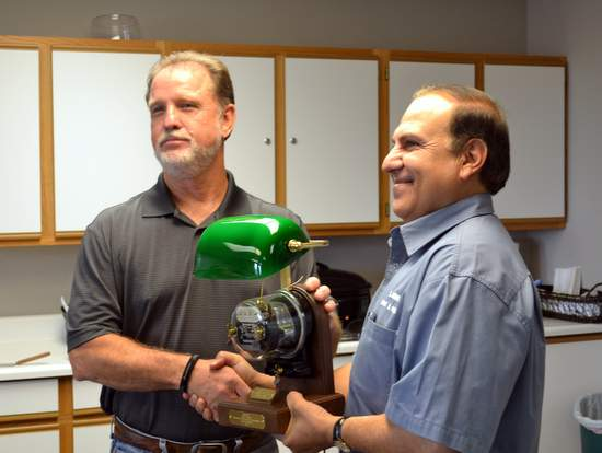 Mike Bryant and Light Plant Superintendent Houssin Hourieh