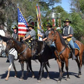 Mounted Honor Guard Led the Parade