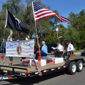 Purple Heart Recipients are Honored in the Parade
