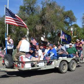 Vietnam Service Veterans on their Float