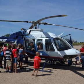 Flight for Life Copter on Display at Fairgrounds