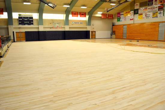 Partially Sanded Floor