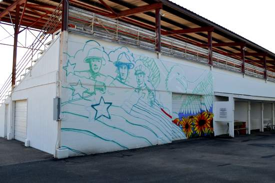 Fairgrounds Mural in Progress