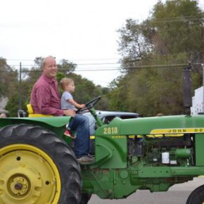 Aaron Leiker and Son at the Controls