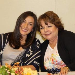 Megan Grett and Rose Ann - Hostesses for the evening.