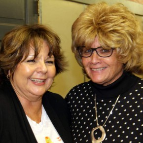 Arts Council President Rose Ann Yates and  Art Guild Secretary Pat Johnson