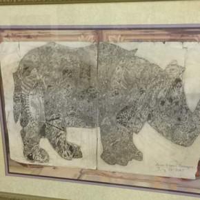 "Popular Choice Alan Flores ""Rhino"" ($50 cash award sponsored by Daubers Art Club)"