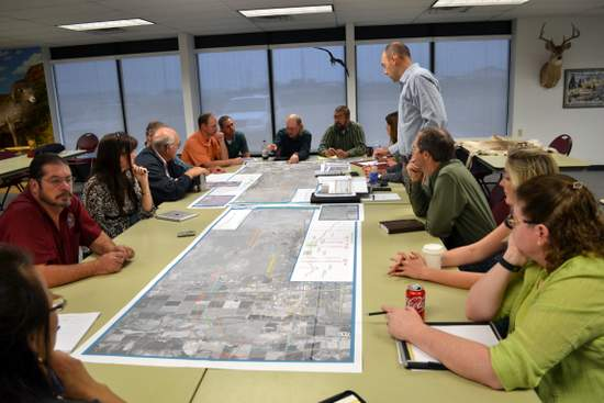 CDOT and Local Officials Review Reliever Route Map