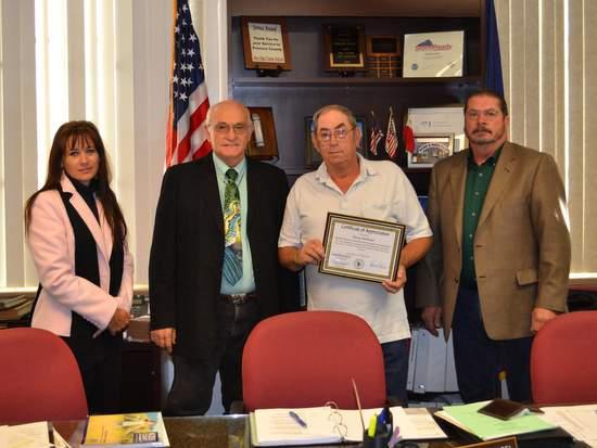 Doug Harbour Receives Certificate of Appreciation
