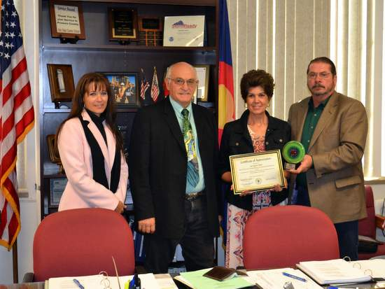 JoLynn Idler with Prowers County Commissioners