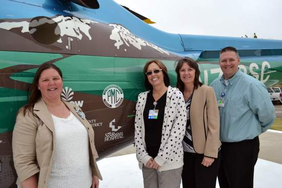 PMC Staff at Hospital, Audrey Coats, Leslie Day-Jensen, Karen Bryant and Patrick Laird