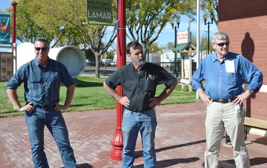 Lamar Mayor Roger Stagner with Amtrak Officials