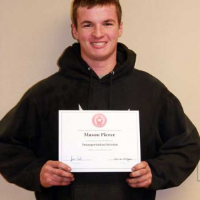 Mason Pierce of Holly is a Student-of-the-Month at Northwest Tech in Goodland, Kansas